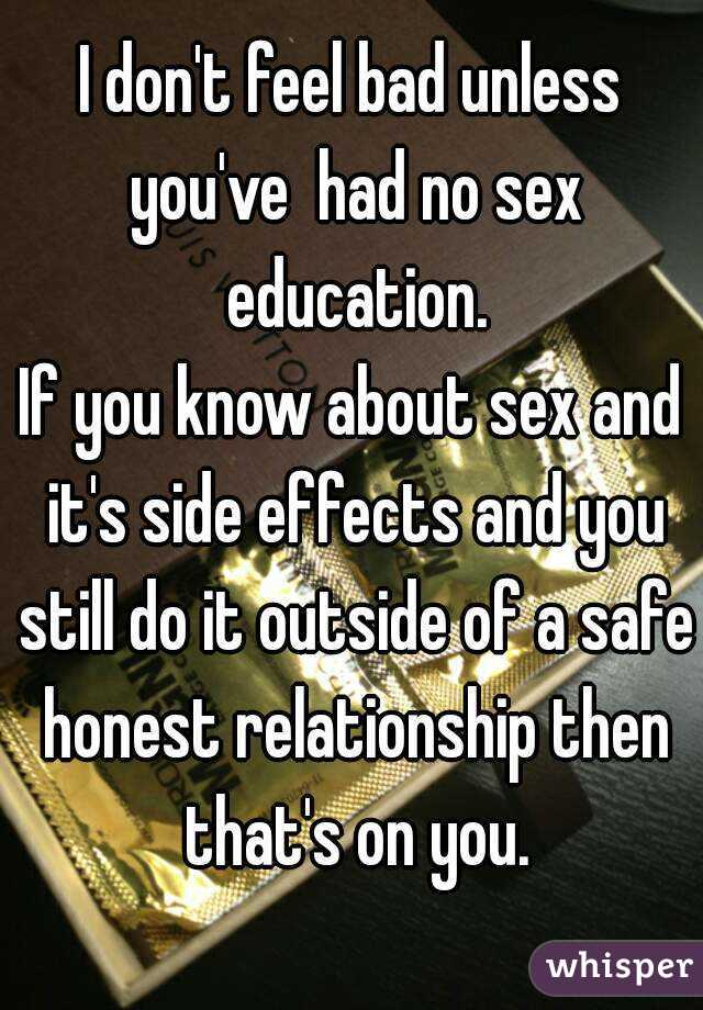 Effects of no sex in a relationship