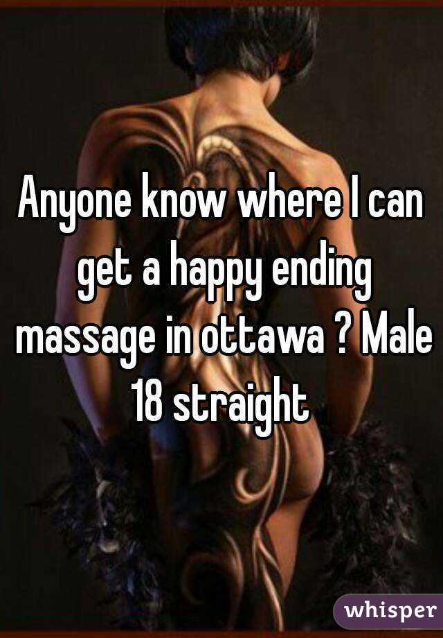 ending massage straight Happy