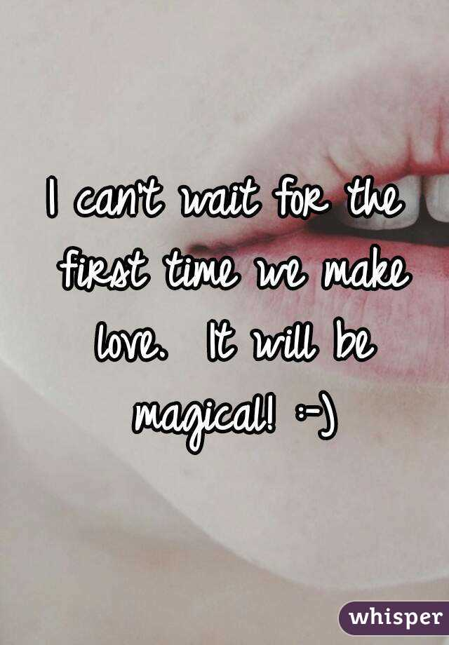the best time to make love