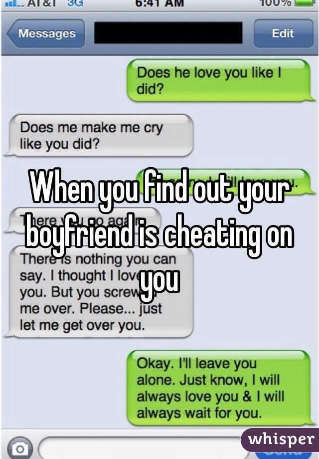 when your boyfriend cheats