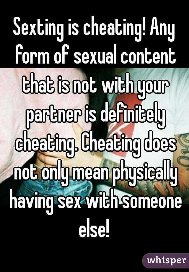 Sexting is cheating