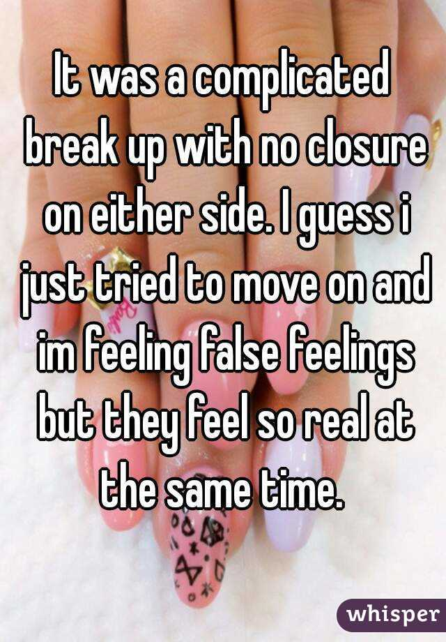 breakup without closure