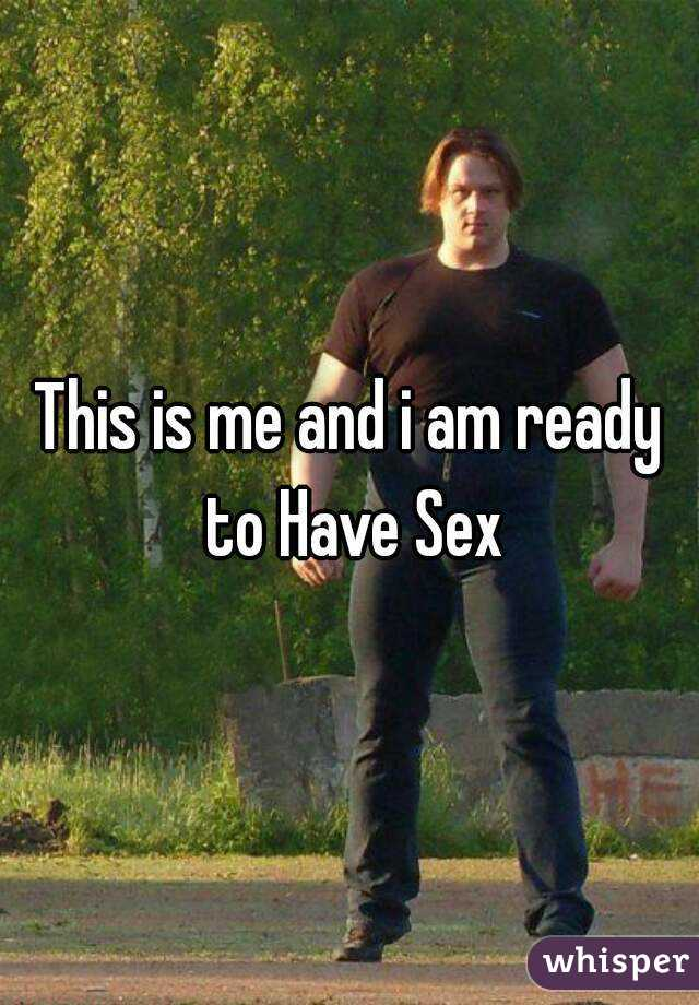 How do i know if im ready for sex