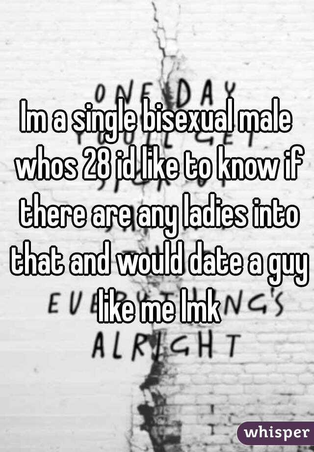 Im a single bisexual male whos 28 id like to know if there are any ladies into that and would date a guy like me lmk