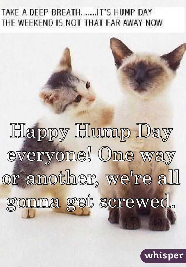 Happy Hump Day everyone! One way or another, we're all gonna get screwed.