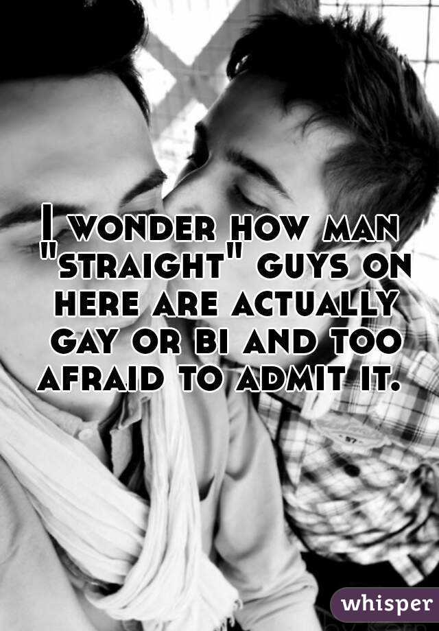 """I wonder how man """"straight"""" guys on here are actually gay or bi and too afraid to admit it."""
