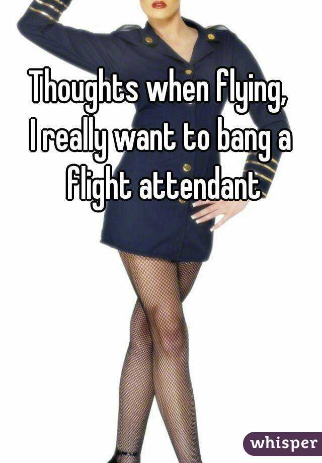 Thoughts when flying,  I really want to bang a flight attendant