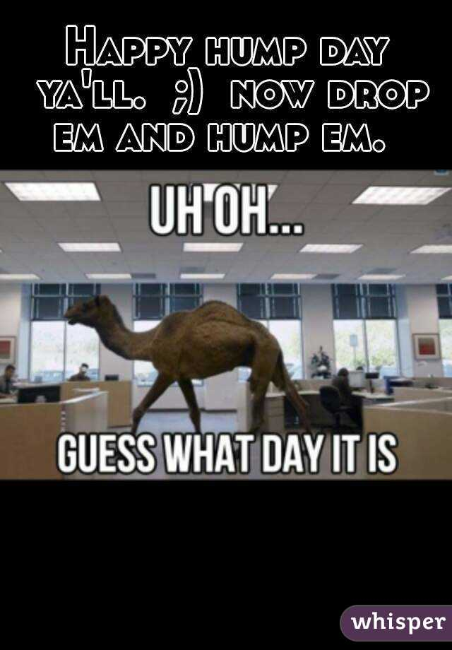 Happy hump day ya'll.  ;)  now drop em and hump em.