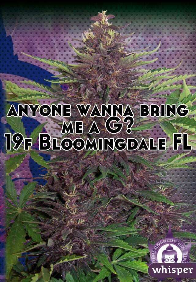 anyone wanna bring me a G?  19f Bloomingdale FL