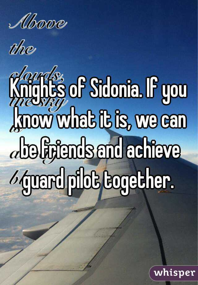 Knights of Sidonia. If you know what it is, we can be friends and achieve guard pilot together.