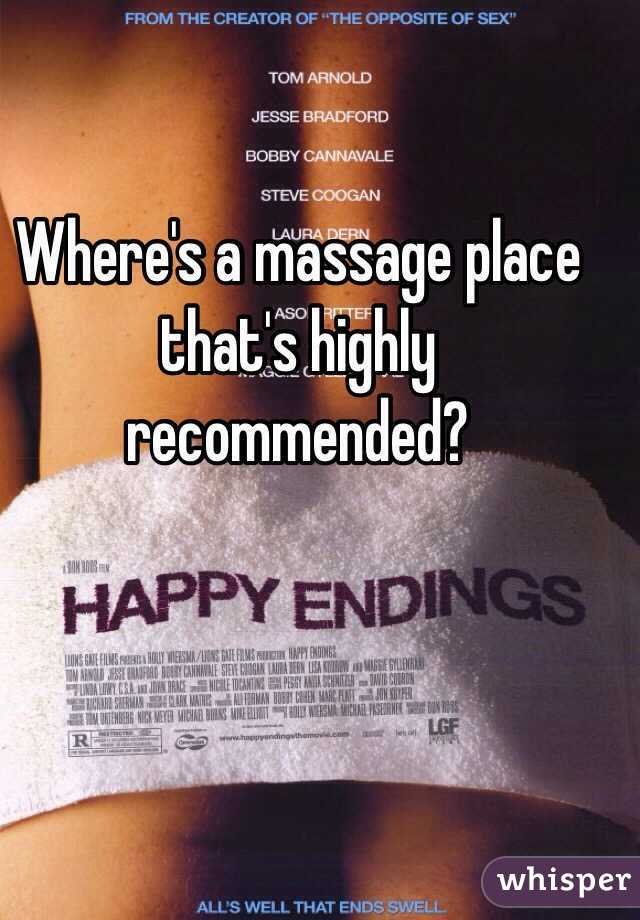 Where's a massage place that's highly recommended?