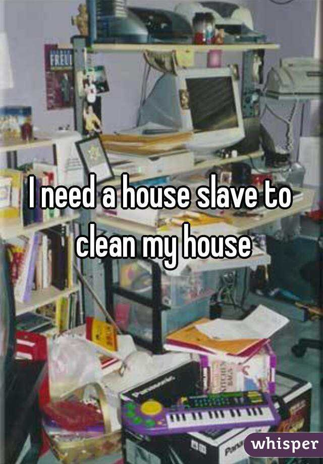 I need a house slave to clean my house