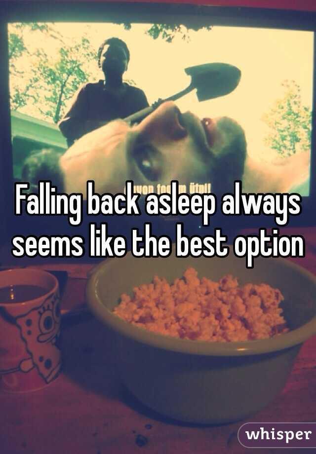 Falling back asleep always seems like the best option