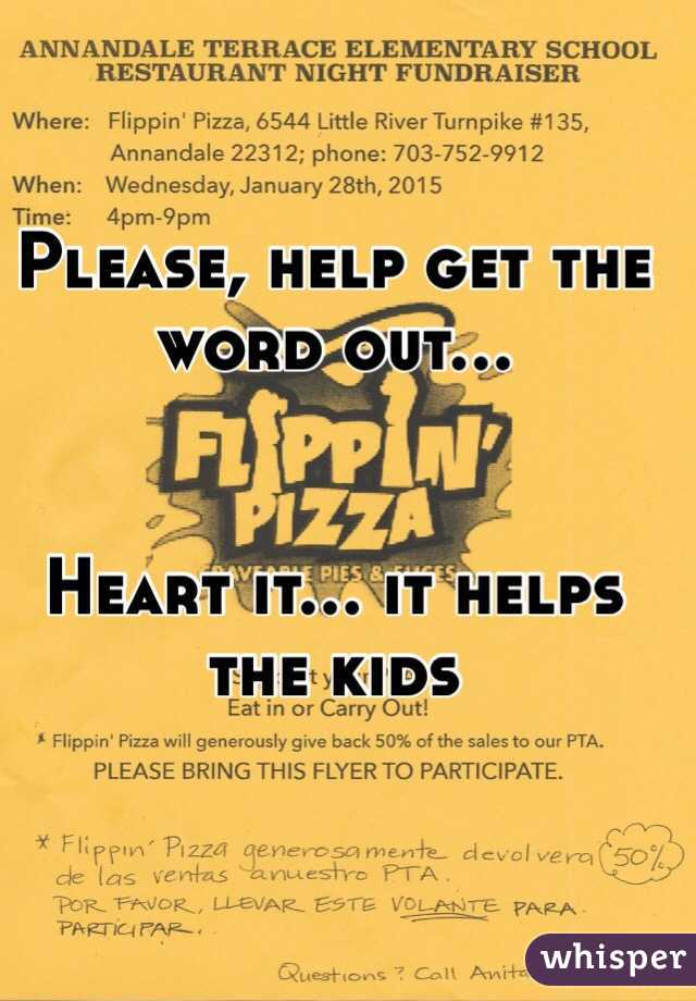 Please, help get the word out...   Heart it... it helps the kids