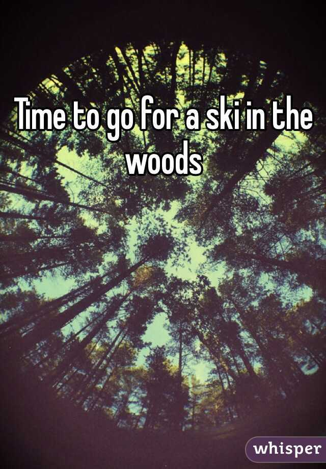 Time to go for a ski in the woods