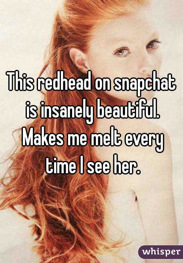 Redhead snapchat