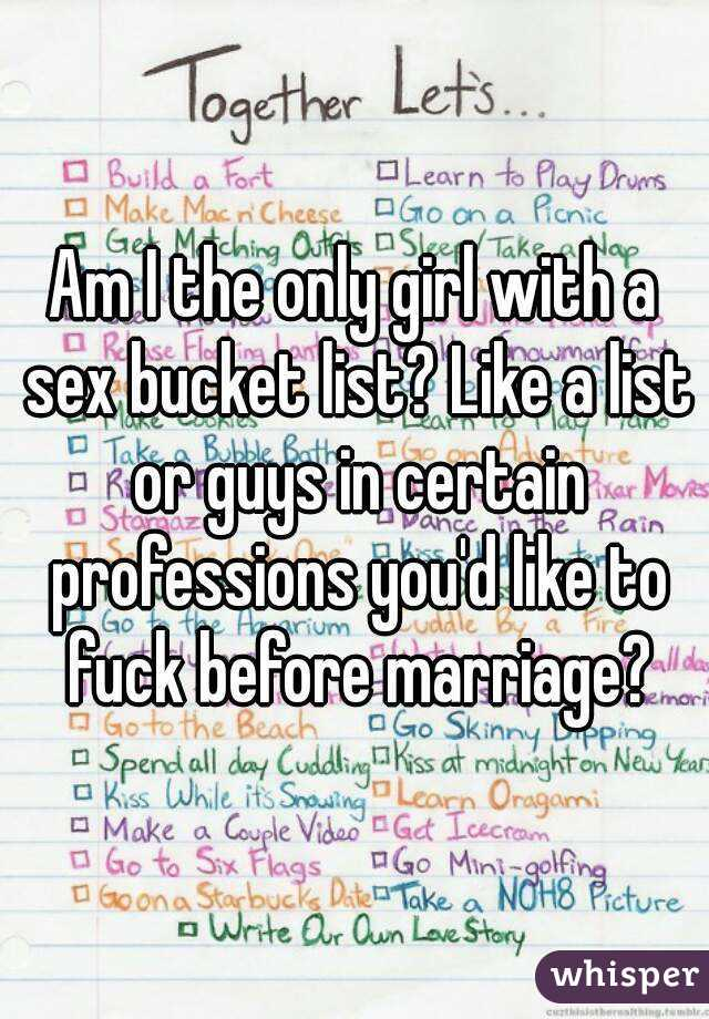 Sexual bucket list for married couples