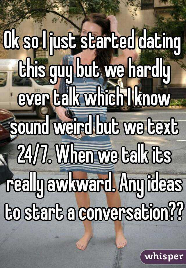 Just started dating what to talk about