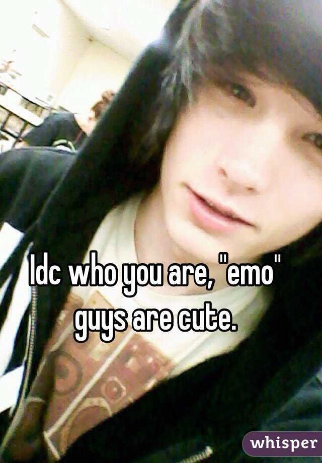 """Idc who you are, """"emo"""" guys are cute."""