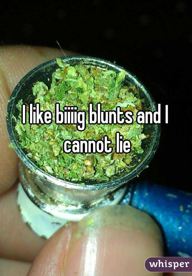 I like biiiig blunts and I cannot lie