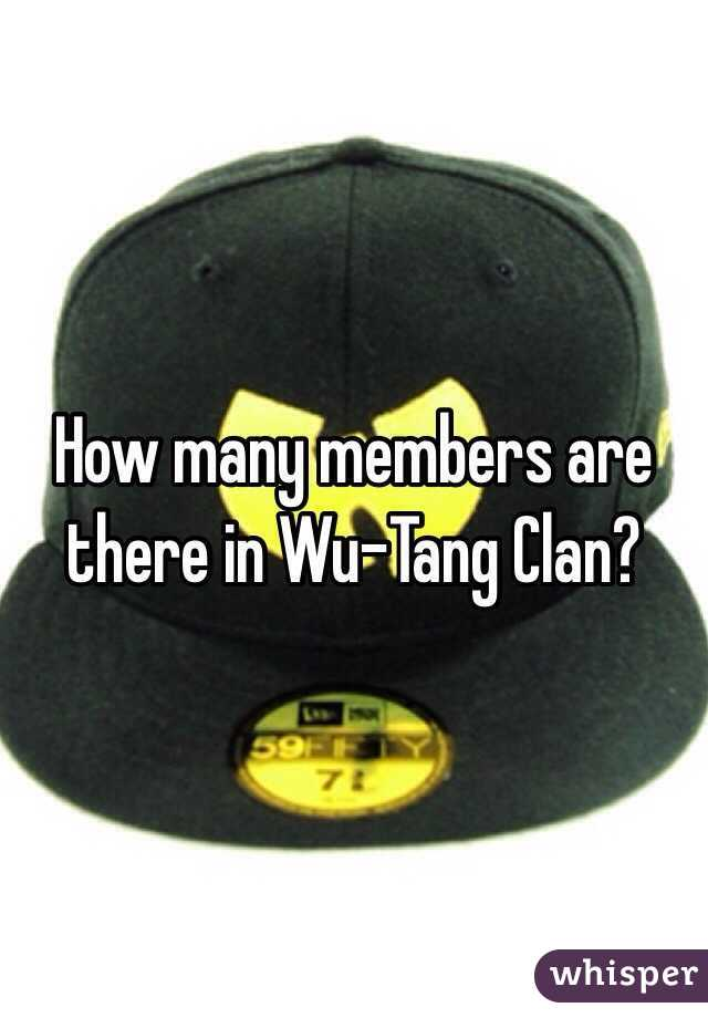 How many members are there in Wu-Tang Clan?
