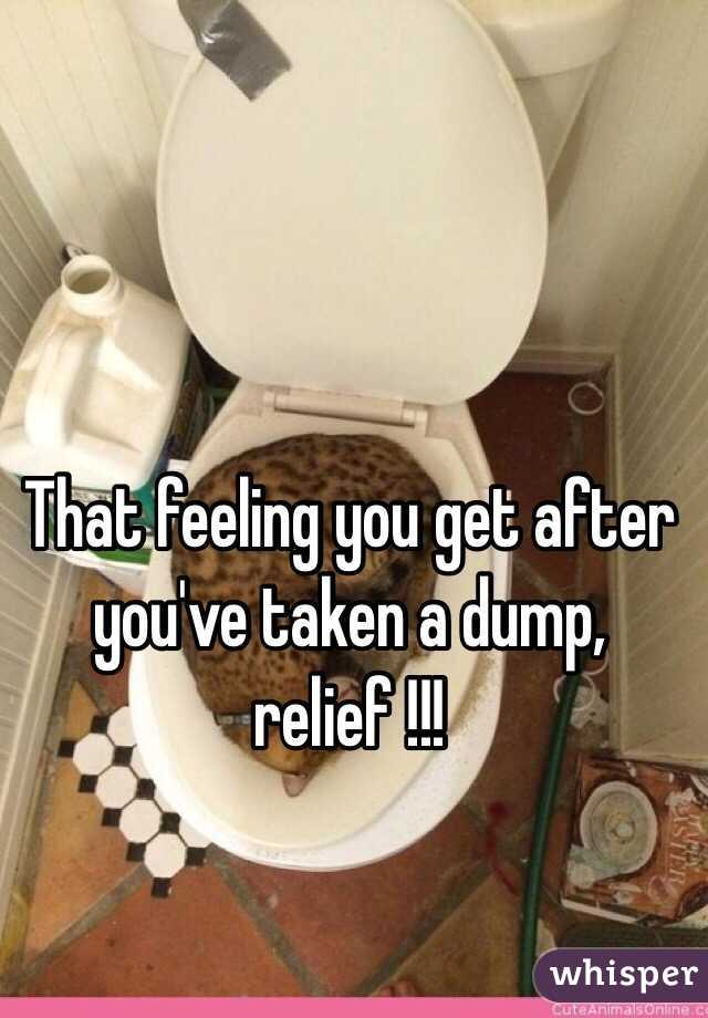 That feeling you get after you've taken a dump, relief !!!
