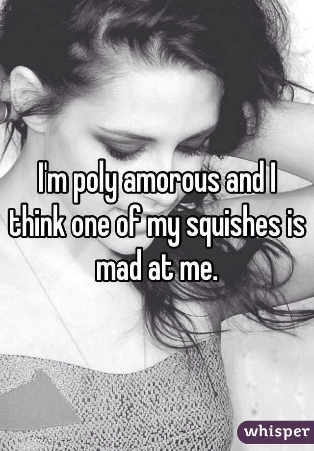 I'm poly amorous and I think one of my squishes is mad at me.