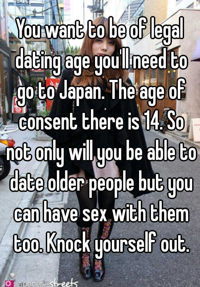 Age for sex in japan