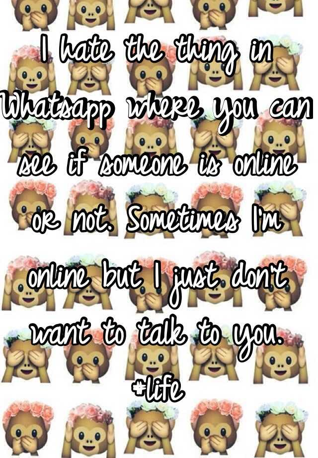 I want to talk to someone online