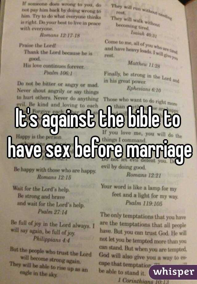 Sex before marriage in the bible Nude Photos 100
