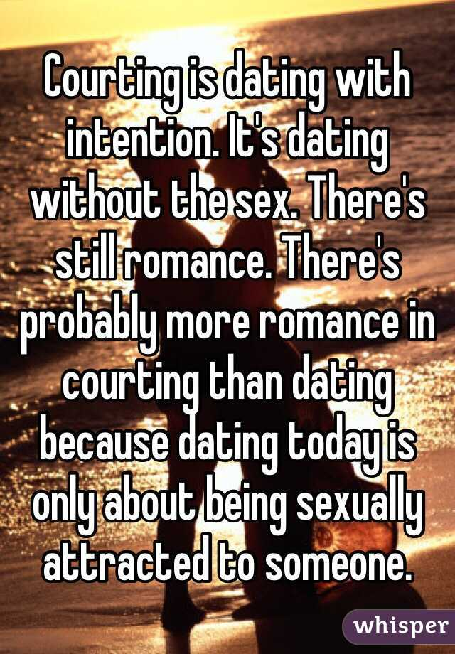 Dating sex without romance