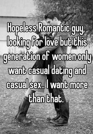 Dating a hopeless romantic guy