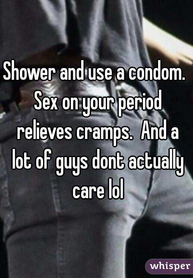 Sex during period shower