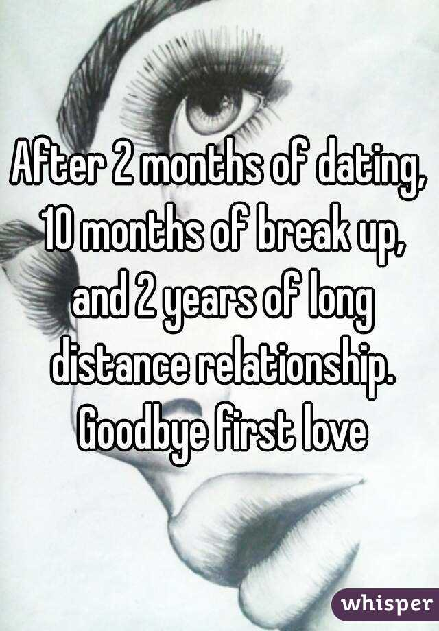 Long distance after 2 months of dating