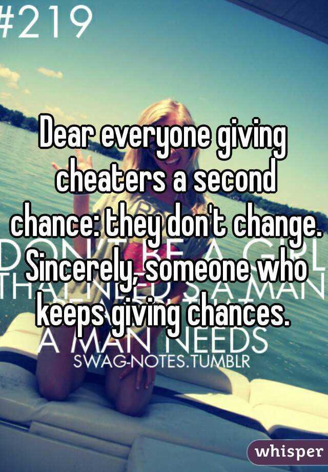 Cheaters change