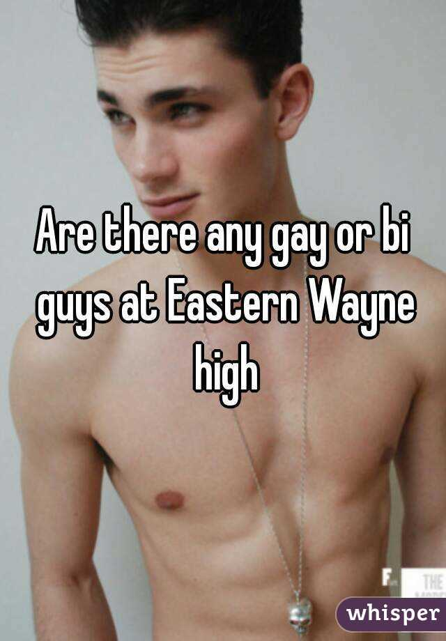 Are there any gay or bi guys at Eastern Wayne high