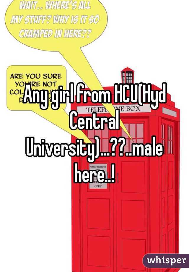 Any girl from HCU(Hyd Central University)...??..male here..!