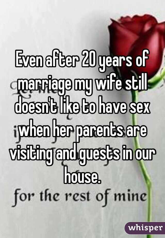 Sex after 20 years of marriage