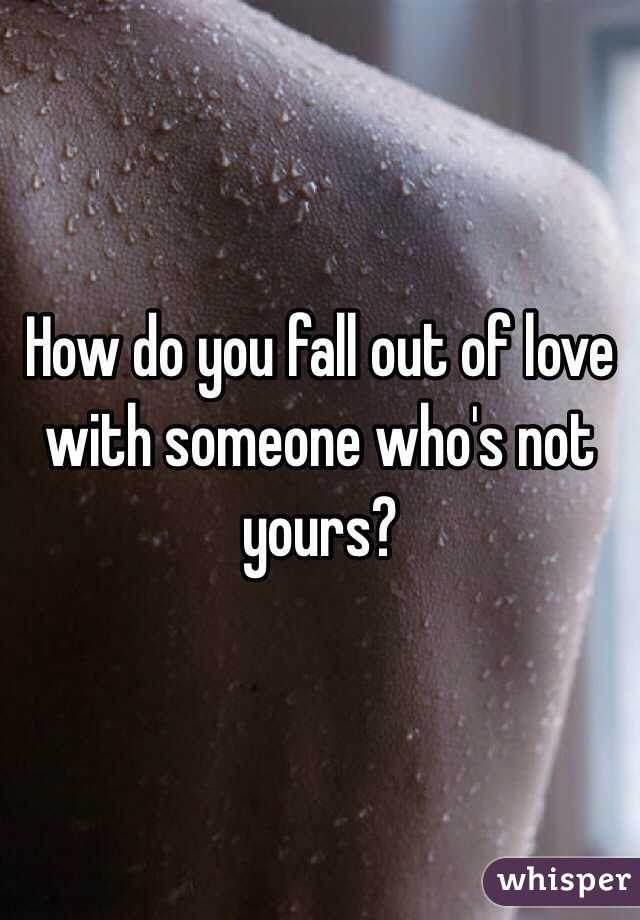 Not To Of Out Love Fall How