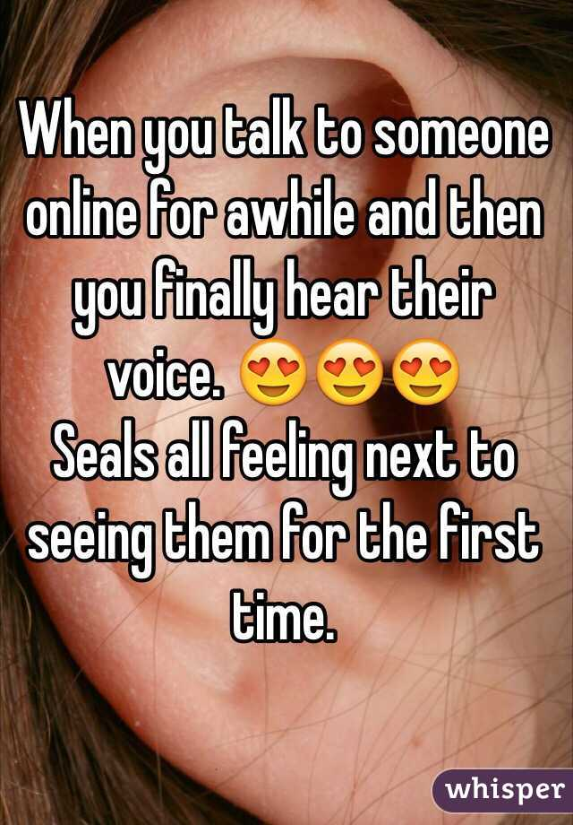 Talk To Someone For The First Time