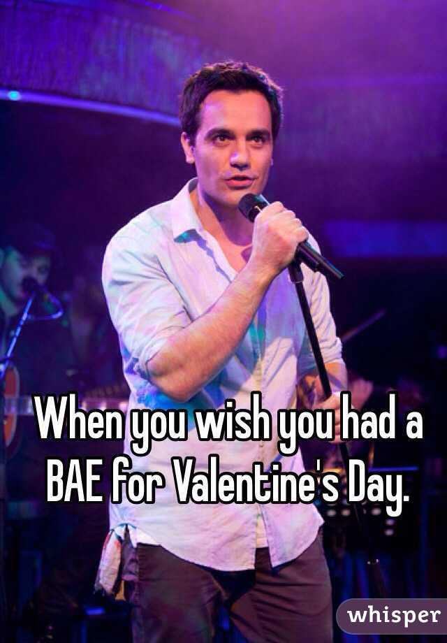 When you wish you had a BAE for Valentine's Day.