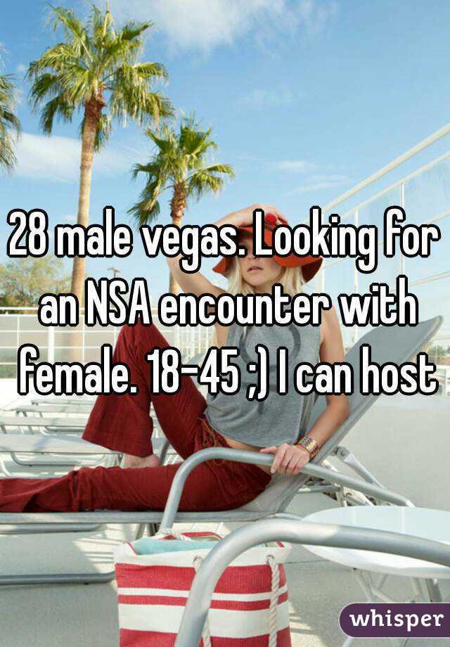 28 male vegas. Looking for an NSA encounter with female. 18-45 ;) I can host