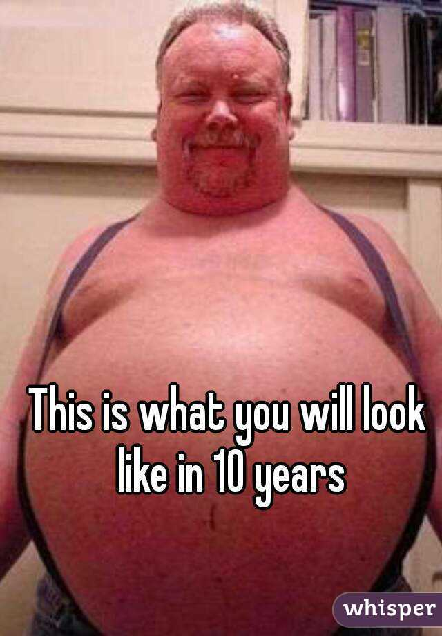 This is what you will look like in 10 years