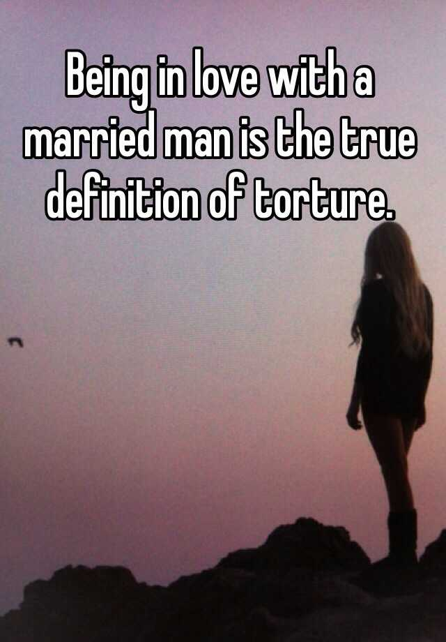 true love with a married man