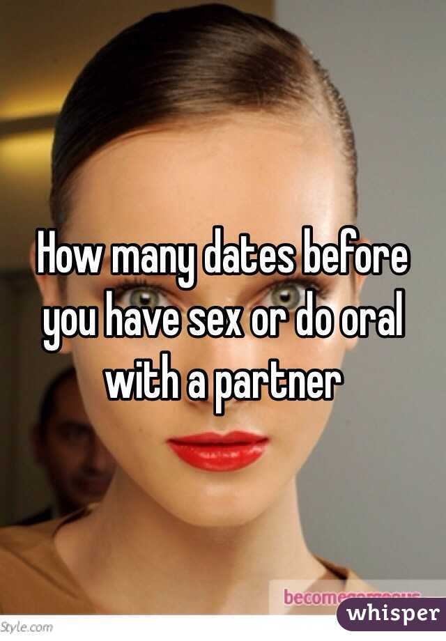 How many dates before oral sex