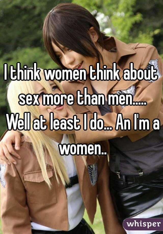 Why men want sex more than women