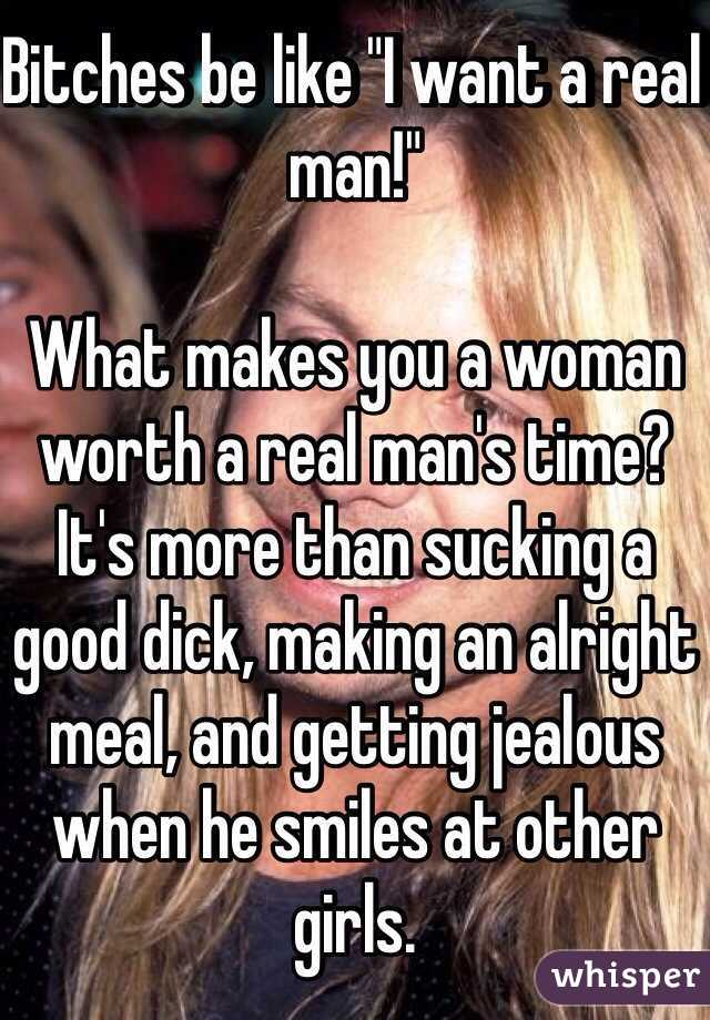 What makes a man want a woman