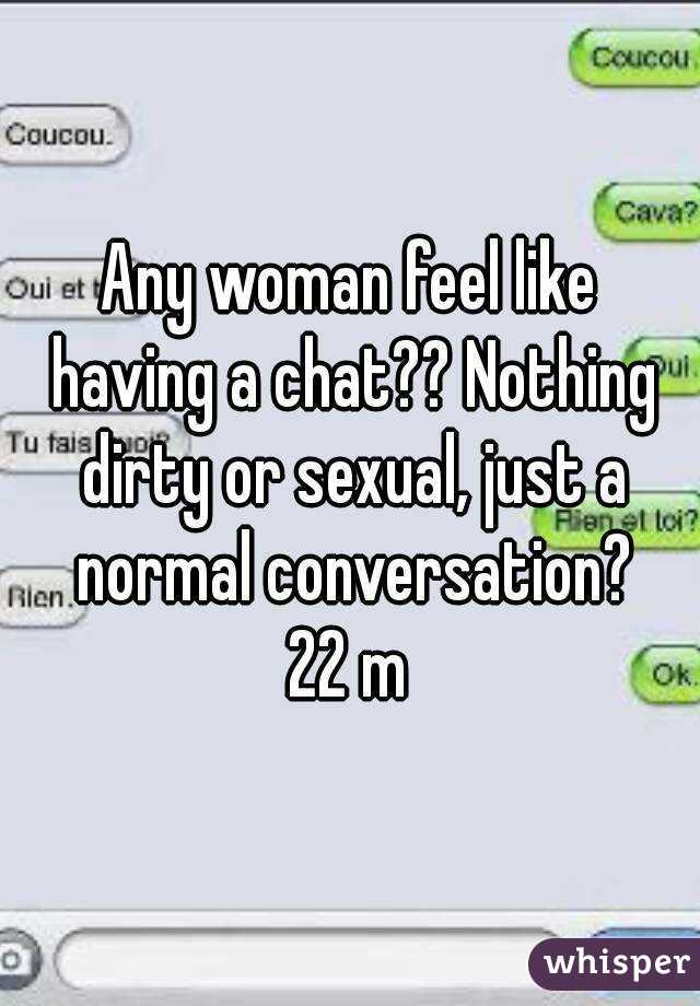 dirty chat conversation
