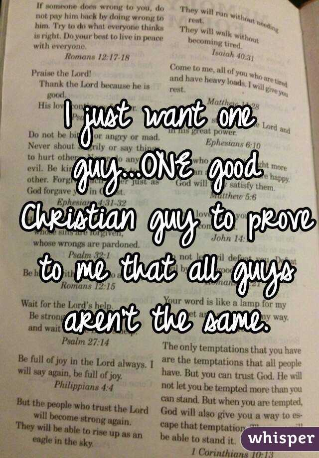 Where to find christian guys