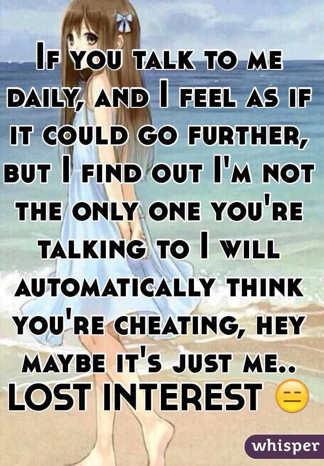 Is It Cheating If You Are Just Talking